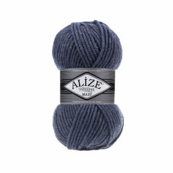 Пряжа Alize Superlana maxi цвет джинс меланж 203